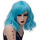 cheap Synthetic Capless Wigs-Wig Accessories / Synthetic Wig Wavy Middle Part Synthetic Hair Fashionable Design / Party Red / Blue Wig Women's Short Capless Natural Black Rose / Green Gold Pink