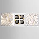 preiswerte Ölgemälde-Druck Aufgespannte Leinwandrucke - Formen / Geometrie & Pfeile Motiv Modern