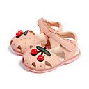 ieftine Pantofi Fetițe-Fete Pantofi PU Primavara vara Primii Pași Sandale Mărgele pentru Copil Alb / Roz / Albastru+Roz