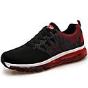 זול מוקסינים לנשים-בגדי ריקוד נשים נעליים בד גמיש סתיו חורף נוחות נעלי אתלטיקה ריצה שטוח שחור / ורוד בהיר
