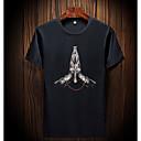 billige Computertasker-Rund hals Herre - Geometrisk Bomuld Plusstørrelser T-shirt / Kortærmet