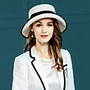 cheap Party Headpieces-Natural Fiber Hats with Braided Strap / Plain Top 1pc Casual / Daily Wear Headpiece