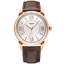 preiswerte Kleideruhr-YAZOLE Herrn Armbanduhr Nachts leuchtend / Armbanduhren für den Alltag / Cool PU Band Luxus / Minimalistisch Schwarz / Braun