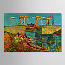 tanie Tapestry Ścienne-Hang-Malowane obraz olejny Ręcznie malowane - Sławne Klasyczny / Tradycyjny Naciągnięte płótka / Rozciągnięte płótno