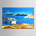זול ציורי שמן-ציור שמן צבוע-Hang מצויר ביד - מופשט / L ו-scape מודרני ללא מסגרת פנימית / בד מגולגל