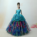 cheap Dolls Accessories-Dresses Dress For Barbie Doll Forest Green Tulle / Lace / Silk / Cotton Blend Dress For Girl's Doll Toy