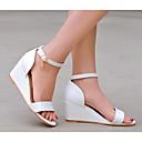 povoljno Ženske sandale-Žene PU Ljeto Udobne cipele Sandale Wedge Heel Obala / Zelen / Pink