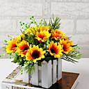 ieftine Flor Artificiales-Flori artificiale 1 ramură Clasic Stilat Floarea soarelui Față de masă flori