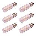 preiswerte LED Glühbirnen-4W E17 LED Mais Licht 54 LEDs 4014 SMD AC 100-240 V keine Flicker Hause Beleuchtung kalt / warm weiß (6 Stück)