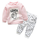 ieftine Topuri Fete-Copil Fete Geometric / Imprimeu Manșon Lung Set Îmbrăcăminte