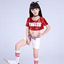 זול בגדי ריקוד לילדים-תלבושות למעודדות תלבושות בנות הצגה ספנדקס Paillette שרוולים קצרים נפול עליון / מכנסיים