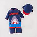 ieftine Costum de Baie Băieți-Copii Băieți Imprimeu Manșon Jumate Costum Baie