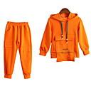 povoljno Jakne i kaputi za djevojčice-Djeca Djevojčice Osnovni / Ulični šik Jednobojni Dugih rukava Pamuk Komplet odjeće