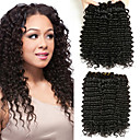 billige Serveringssett-6 pakker Peruviansk hår Dyp Bølge Ekte hår Menneskehår Vevet / Bundle Hair / En Pack Solution 8-28 tommers Naturlig Farge Hårvever med menneskehår Ekstensjon / Beste kvalitet / Kul Hairextensions med