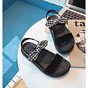 ieftine Sandale de Damă-Pentru femei Pantofi PU Vară Confortabili Sandale Toc Drept Vârf deschis Negru / Kaki