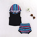 cheap Baby Girls' One-Piece-Baby Girls' Striped Sleeveless Clothing Set