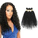 tanie Dopinki naturalne-3 zestawy Włosy mongolskie Curly Włosy naturalne Doczepy z naturalnych włosów 8-28 in Czarny Kolor naturalny Ludzkie włosy wyplata Tkany maszynowo Miękka / Klasyczny / Damskie Ludzkich włosów