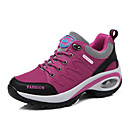 hesapli Kadın Atletik Ayakkabıları-Kadın's Ayakkabı Sentetikler Sonbahar Kış Günlük Atletik Ayakkabılar Yürüyüş Dolgu Topuk Yuvarlak Uçlu Dış mekan için Perçin Mor / Fuşya / Koyu Gri