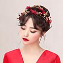baratos Acessórios de Cabelo-Liga Headbands com Flor / Metálico 1pack Casamento / Ocasião Especial Capacete