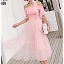 cheap Bracelets-Women's Daily Shift Dress Cotton Pink Gray One-Size