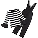 cheap Blush-Kids Girls' Solid Colored Long Sleeve Clothing Set