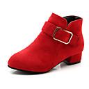 preiswerte Mädchenschuhe-Mädchen Schuhe PU Herbst Winter Tiny Heels für Teens Stiefel Walking für Junior Rot / Rosa / Khaki