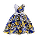cheap Girls' Underwear & Socks-Kids Girls' Tropical Leaf Floral Sleeveless Dress