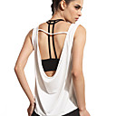 cheap Fitness, Running & Yoga Clothing-Women's Scoop Neck Open Back Yoga Top White Sports Solid Color Tank Top Dance Running Sleeveless Activewear Lightweight Breathable Quick Dry Micro-elastic