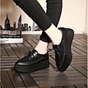 olcso Női magassarkú cipők-Női Cipő Nappa Leather Tavasz / Nyár Kényelmes Félcipők Tipegők Kerek orrú Fekete