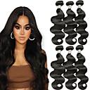 tanie Dopinki w naturalnych kolorach-6 pakietów Włosy brazylijskie Falowana Włosy naturalne Fale w naturalnym kolorze / Pakiet włosów / Pakiet One Solution 8-28 in Natutalne Kolor naturalny Ludzkie włosy wyplata Tkany maszynowo