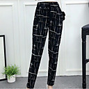 cheap Women's Flats-Women's Exaggerated Plus Size Cotton Harem Pants - Solid Colored Black & White, Tassel