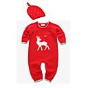 ieftine Set Îmbrăcăminte Băieți Bebeluși-Bebelus Băieți De Bază Zilnic Imprimeu Model Animal Manșon Lung Bumbac O - piesă Roșu-aprins 60
