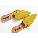 povoljno Ženske oksfordice-Žene Cipele Ovčja koža Proljeće Udobne cipele Klompe i natikače Niska potpetica Bijela / Badem