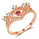 billige Motering-Dame Elegant Ring - Gullplatert rose, Fuskediamant Krone trendy, Mote, Elegant 5 / 6 / 7 / 8 / 9 Rose Gull Til Stevnemøte Bursdag