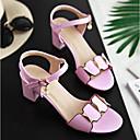 ieftine Sandale de Damă-Pentru femei Pantofi PU Vară Confortabili / Balerini Basic Sandale Toc Îndesat Alb / Negru / Roz