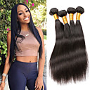 cheap Unprocessed Hair-Remy Human Hair Hair weave Best Quality / New Arrival / Hot Sale Straight Indian Hair Mid Length 400 g 1 Year Dailywear / Wedding Party / Quinceañera & Sweet Sixteen