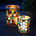 ieftine Inele Cuplu-Country / Rustic / Stil European Hârtie Reciclabilă Suporturi Lumânări Candelabra 2pcs, Lumânare / Suport pentru lumânări