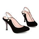 ieftine Sandale de Damă-Pentru femei Pantofi PU Vară Confortabili Tocuri Toc Stilat Negru / Rosu / Migdală