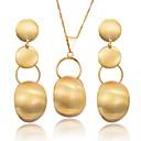 olcso Divat fülbevalók-Női Ékszer szett - Bohém, Divat tartalmaz Francia kapcsos fülbevalók Nyaklánc medálok Arany Kompatibilitás Parti Ajándék / Naušnice