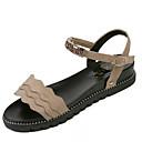 ieftine Sandale de Damă-Pentru femei PU Vară Pantof cu Berete Sandale Toc Drept Negru / Bej / Roz