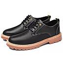 Χαμηλού Κόστους Αντρικά Oxford-Ανδρικά Παπούτσια άνεσης PU Φθινόπωρο Oxfords Μαύρο / Ανοικτό Καφέ / Σκούρο καφέ