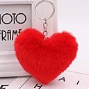 Χαμηλού Κόστους Μπρελόκ-Καρδιά Μπρελόκ Κόκκινο / Πράσινο / Ροζ Geometric Shape Τρίχα Κουνελιού, Κράμα Συνηθισμένο, Μοντέρνα Για Καθημερινά / Ημερομηνία