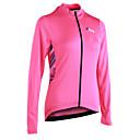 cheap Cycling Jerseys-21Grams Women's Long Sleeve Cycling Jersey - Pink Stripe Bike Jersey, Reflective Strips Back Pocket 100% Polyester / Micro-elastic / Advanced / YKK Zipper / Italy Imported Ink