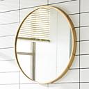 olcso Lámpa alapjai és csatlakozók-Tükör Tükör Modern / kortárs Hőkezelt üveg / Fém 1db - Tükör Fürdőszobai dekoráció