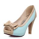 abordables Escarpins-Femme Chaussures à Talons Talon Aiguille Polyuréthane Escarpin Basique Eté Beige / Bleu / Rose / Quotidien