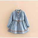preiswerte Kleider für Mädchen-Kinder Mädchen Blumen Langarm Kleid