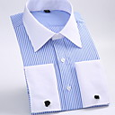 cheap Men's Slip-ons & Loafers-Men's Basic Shirt - Striped Classic Collar / Long Sleeve