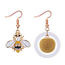 cheap Rings-Women's Mismatched Drop Earrings - Rhinestone Bee European, Fashion Gold For Causal Daily