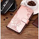 hesapli iPhone Kılıfları-Pouzdro Uyumluluk Apple iPhone X / iPhone 8 Plus / iPhone 8 Cüzdan / Kart Tutucu / Satandlı Tam Kaplama Kılıf Karton / dantel Baskı / Çiçek Sert PU Deri