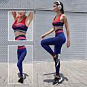 Χαμηλού Κόστους Αξεσουάρ κεφαλής για πάρτι-Γυναικεία Με σπορ πλάτη Κοστούμι γιόγκα - Μπλε Αθλητισμός Γράμμα Spandex Ψηλοκάβαλο Κολάν / Σουτιέν Top Γιόγκα, Τρέξιμο, Fitness Ρούχα Γυμναστικής Αναπνέει, Συμπίεση, Anti Transpirație Ελαστικό